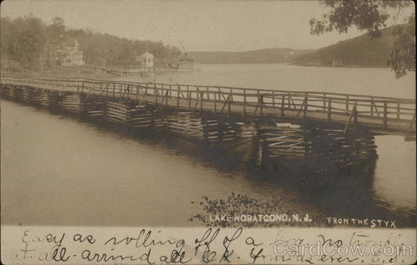 Bridge Across Lake Hopatcong at River Styx New Jersey