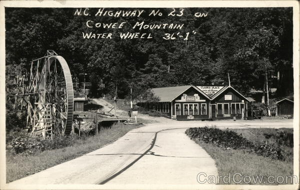 Clark's Place and Water Wheel - Cowee Mountain Sylva North Carolina