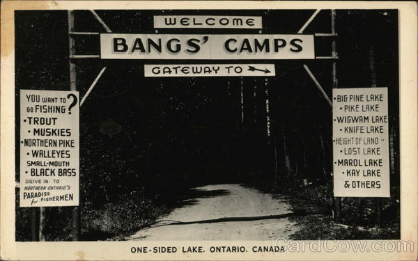Bangs' Camps One-Sided Lake Canada Ontario
