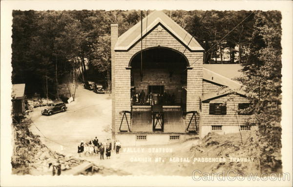 Cannon Mt. Aerial Passenger Tramway - Valley Station Franconia New Hampshire
