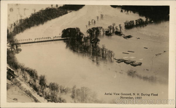 Aerial View During Flood, November, 1927 Concord New Hampshire