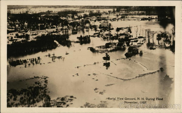 Aerial View of Flood - November, 1927 Concord New Hampshire