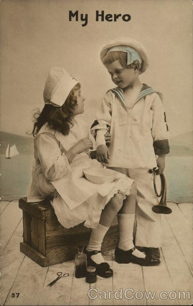 My Hero - Young Girl Dressed as Nurse and Young Boy