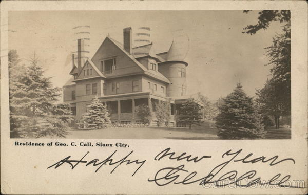 Residence of George C. Call Sioux City Iowa