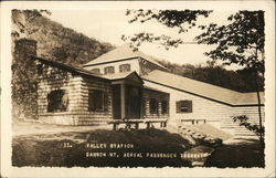 Valley Station, Cannon Mountain Aerial Tramway Postcard