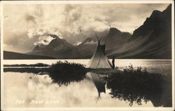 Tepee on Bow Lake