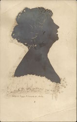 Silhouette of Helen M. Parker, Silhouettist