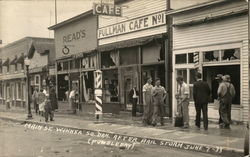 Main Street After Hail Stormof June 7, 1933