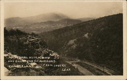 National Highway and East End of Narrows from Lover's Leap Postcard