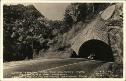 Lower Tunnel and the Chimney Tops, Newfound Gap Highway