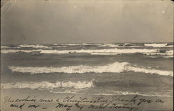View of Waves on Beach