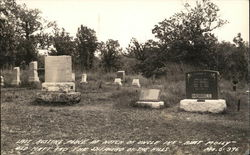 Last resting place at Notch of Uncle Ike - Aunt Molly - Old Matt and the Shepherd of the Mills