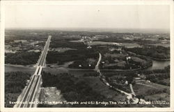 New Road and Old - The Maine Turnpike and U.S. 1 at Bridge over York River