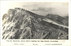 Atop Mt. McLellan, showing the Shay geared locomotive.