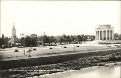 Old Cathedral and Memorial of Geo. Rogers Clark Postcard