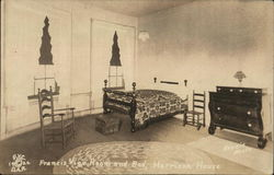 Francis Vigo Room and Bed, Harrison House Postcard