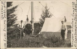 Thompson & Footer Camping at Cape Newagen (Year 1910)