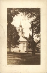 Methodist Church with Rand Memorial Clock Postcard