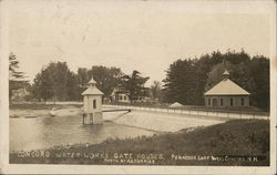 Concord Water-Works Gate Houses, Penacook Lake Postcard