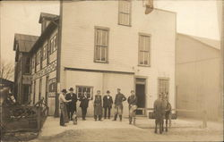 Men Outside Carriage & Smithshop (Blacksmith)