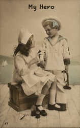 """My Hero"" - Young Girl Dressed as Nurse and Young Boy"