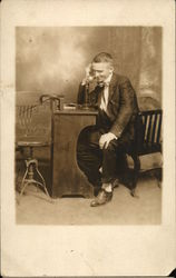 Fred B. Russell on Phone