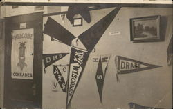 Wall of School Pennants
