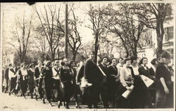 Large group of woman in Parade - Suffrage?
