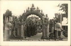 Entrance to Way of the Cross Postcard