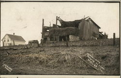 Micham's Barn Damaged by Storm, April 29, 1909