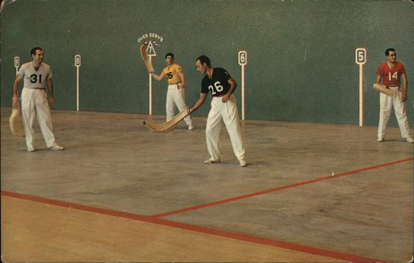 Men playing a game of Jai-Alai at Palm Beach Fronton West Palm Beach Florida