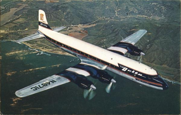 Delta Airlines Golden Crown DC-7 Aircraft