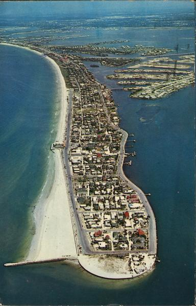 Aerial view of the Southern Tip of Beach St. Petersburg Florida