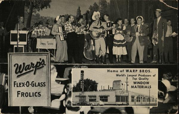 Warp's Flex-O-Glass Frolics Advertising