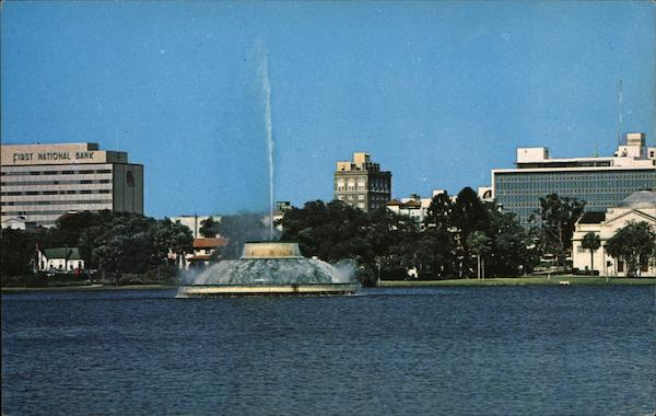 View From Lake Eola Orlando Florida