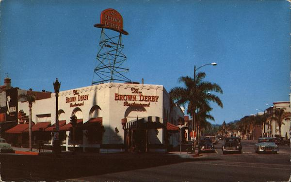 Brown Derby Restaurant Beverly Hills California