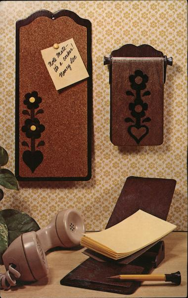 Phone Mate and Note Mate - Original craft kits from National Handcraft Des Moines Iowa