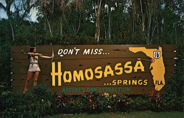 Living Signboard at Homosassa Springs Tampa Florida
