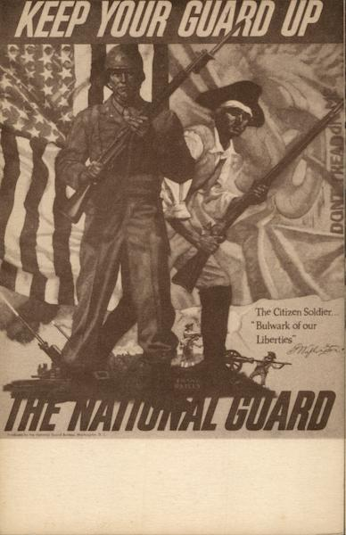Keep Your Guard Up - The National Guard (Reproduction of a Poster Frank Reilly) Washington District of Columbia