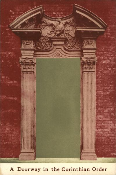 A Doorway in the Corinthian Order Architecture