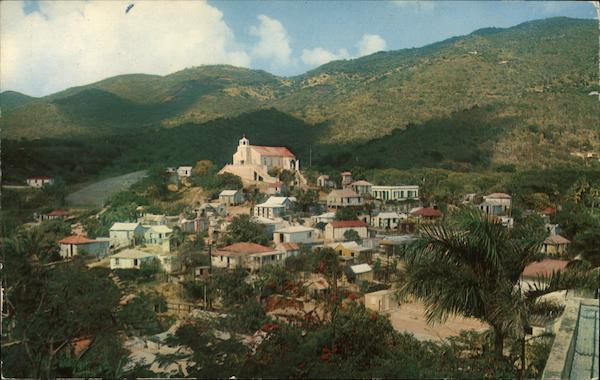 French Town St. Thomas Virgin Islands Caribbean Islands