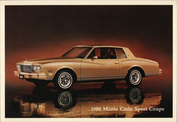 1980 Chevrolet Monte Carlo Sport Coupe Cars
