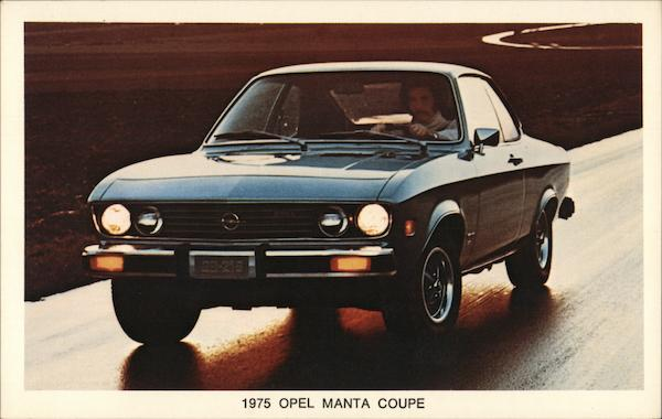 1975 Opel Manta Coupe Cars