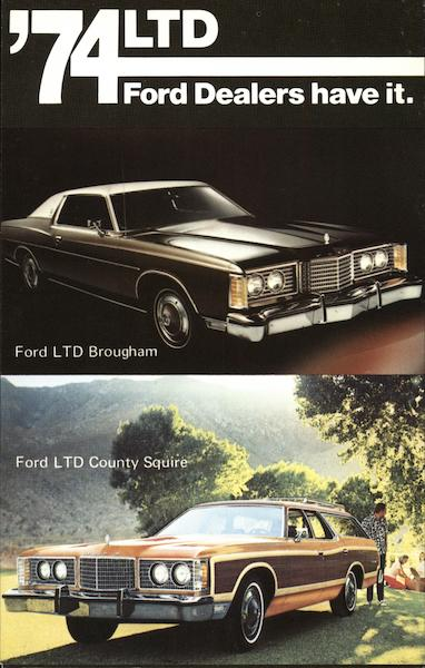 '74 LTD Bougham and County Squire Cars