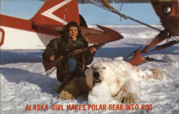Alaska Girl Makes Polar Bear Into Rug North Pole Hunting