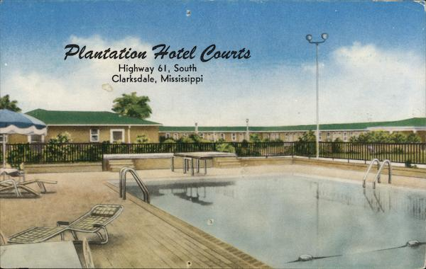 Plantation Hotel Courts, Highway 61, South Clarksdale Mississippi