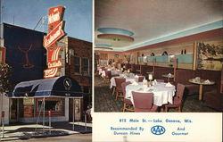 Glen Nelson's Restaurant (outside and inside views)