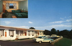 Lake Winnipesaukee's Most Scenic Resort Shangri-La Motel Postcard