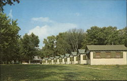 Administration Building and One Unit of Girls' Cabins at Camp Christian Postcard