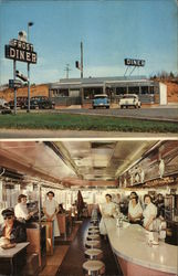 Frost Diner, Warrenton, Virginia / 2 views outside and inside
